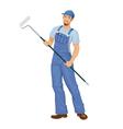 man working painter vector image