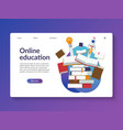 online education landing page template vector image vector image