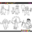people occupations coloring page vector image vector image