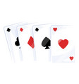playing cards icon classic gambling design set vector image vector image