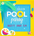 pool party invitation tamplate vector image