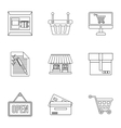 Purchase icons set outline style vector image vector image