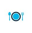 restaurant icon colored symbol premium quality vector image vector image