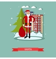 Santa Claus with presents vector image