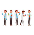 scientist character friendly funny vector image vector image