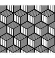 seamless op art geometric pattern vector image vector image