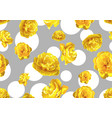 seamless pattern with fluffy yellow tulips vector image vector image