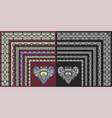 set floral corner pattern to decorative frame vector image