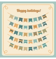 Set of bunting and garland vector image vector image