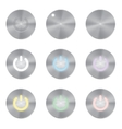 Set of metallic app icons Power Button vector image