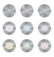 Set of metallic app icons Power Button vector image