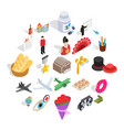 shoot a movie icons set isometric style vector image vector image