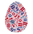 shopping composition of mosaic egg icon vector image