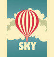 sky vintage poster vector image vector image
