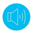 Speaker volume line icon vector image vector image