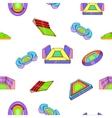 Sport construction pattern cartoon style vector image vector image