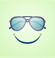 summer rest poster with aviator sunglasses vector image