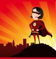 super hero - female vector image vector image