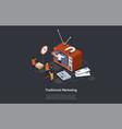 traditional marketing internet strategies vector image vector image