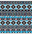 Tribal aztec seamless blue and pink pattern vector image vector image
