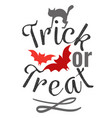 trick or treat happy halloween logo sign vector image vector image