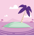 tropical little island cartoon vector image vector image