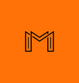 Two letter M monogram style mockup logo design vector image vector image