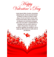 valentines day greeting card vector image vector image
