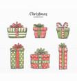 variety christmas gift set vector image vector image