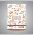 vintage newsletter with sketch bakery pastries vector image vector image