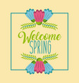 welcome spring poster celebration season time vector image