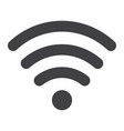 wifi glyph icon web and mobile internet sign vector image vector image