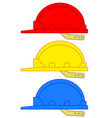 safety hard hats vector image