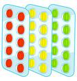 tablets blister packs vector image