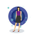 business woman character design vector image