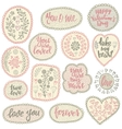pattern collection in retro style with hand vector image