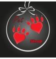 pet heart logo dog paw logo zoo shop vector image
