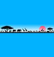african animals in wild vector image vector image