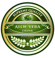 Aloe Vera Drink Label vector image
