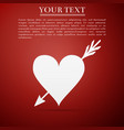 amour symbol with heart and arrow icon isolated vector image