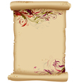 Ancient scroll with floral ornaments vector image vector image