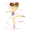 beautiful girl ballerina on a white background wit vector image