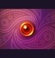 Beautiful glowing diwali background vector image vector image