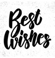 best wishes lettering phrase on grunge background vector image vector image