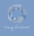 Blue greeting merry christmas decorative card