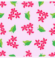 botanical abstract seamless pattern background vector image vector image