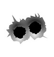bullet circle hole realistic bullets traces vector image