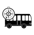 bus and compass icon vector image