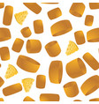 cheese seamless pattern yellow food backround vector image vector image