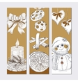 Christmas golden banner set vector image vector image